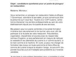 commis de cuisine lettre de motivation lettre de motivation plongeur en restauration par lettreutile