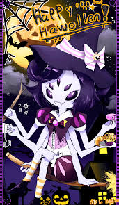 happy halloween muffet witch gif by kirby popstar on deviantart