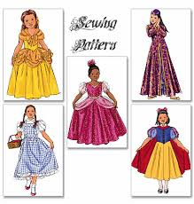 Dorthy Halloween Costumes Butterick 4320 Sewing Pattern Snow White Belle Dorothy