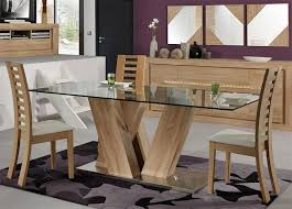 Natural Wood Dining Room Sets Dining Tables Amusing Glass And Wood Dining Table And Chairs