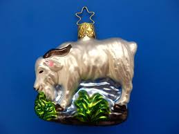 inge glas billy goat german blown glass christmas tree ornament
