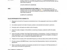 commission only contract template free resume