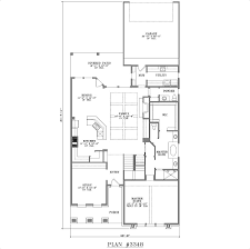 100 narrow lot house plan traditional house plans