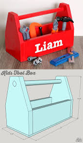 Build A Toy Box Diy by Diy Kids Tool Box Kids Tool Box Building Plans And Building