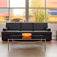 Leather Modern Sofa by Contemporary Sofa Leather For Public Buildings 2 Seater