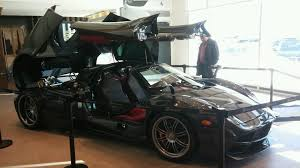 pagani dealership pagani huayra car is kept at an exotic dealership a few minutes