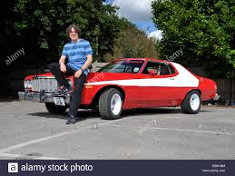 What Was The Starsky And Hutch Car Comedian Alan Davies With A Replica Starsky And Hutch Ford Gran
