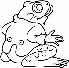 printable frog coloring pages kids bull picture