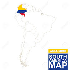 Columbia South America Map South America Clipart Colombia Pencil And In Color South America