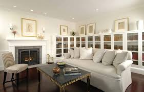 Fireplaces With Bookcases Family Room Traditional With Arched - Family room bookcases