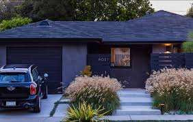 Garage Door Curb Appeal - curb appeal ideas exterior midcentury with house numbers mini