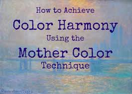 get color harmony with the mother color painting technique hubpages