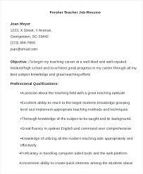 resume format for fresher teacher filetype doc format of resume for teachers sle fresher teacher job template
