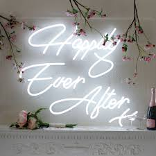 wedding quotes happily after happily after stunning neon sign ideal for your wedding day