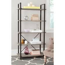safavieh chantel ash gray open bookcase amh6560b the home depot