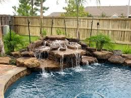 pools with waterfalls decoration inground pool waterfalls