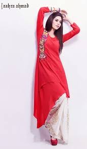 zahra ahmad summer casual wear 2014 smart casual dresses fashion