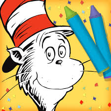 the cat in the hat coloring page dr seuss u0027s the cat in the hat color u0026 create on the app store