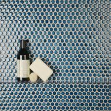 oregon tile  marble with  pennyround mosaics in laguna from oregontileandmarblecom