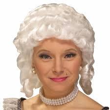 halloween city wigs buy women u0027s colonial wig white