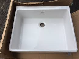 new grasmere 1 0 bowl white ceramic belfast sink 500x600mm