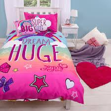 Postman Pat Duvet Set Jojo Siwa With The Big Bow Single Duvet Quilt Cover Set Girls Kids