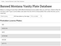 Banned Vanity Plates 17 Normal License Plates That Montana Has Forbidden Montana