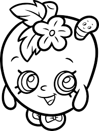 apple blossom from shopkins coloring page wecoloringpage