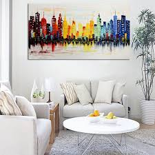 decorations realistic living room wall art canvas ideas creative