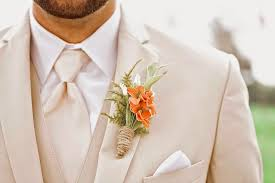 Coral Boutonniere Sunkissed Botanics Sunkissed Dreams Come True Our Wedding Day
