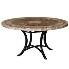 sunray slate mosaic round table 100cm outdoor tables interiors