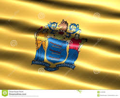 New Jersy Flag State Flag Of New Jersey Stock Illustration Illustration Of