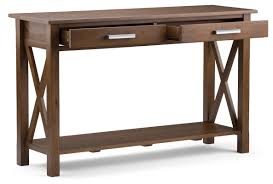 simpli home kitchener console table u0026 reviews wayfair