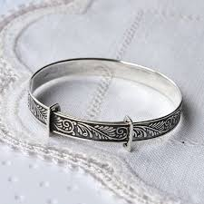 Baby Silver Gifts Sterling Silver Baby Christening Bangle By Martha Jackson Sterling