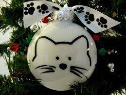 cat purrsonalized ornament in or white 10 00