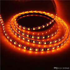 Marine Led Strip Lights by 16 4ft 5050 Smd Black Pcb Orange Led Flexible Strip Light Lamp 5m