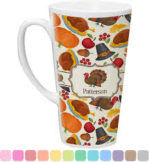 thanksgiving mug traditional thanksgiving latte mug personalized youcustomizeit