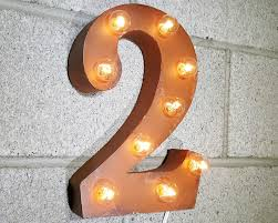marquee numbers with lights rustic 12 metal marquee numbers