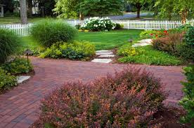 garden how to design your home with exquisite brick walkway wonderful garden design with brick walkway and landscaping ideas plus white fence