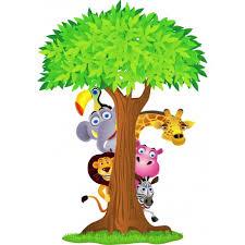 stickers animaux chambre b outstanding stickers arbre animaux de la jungle 2639 muraux enfant jpg