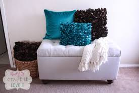 Diy Padded Storage Bench Pottery Barn Knockoff Drop Cloth Upholstered Storage Bench