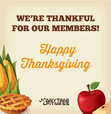 happy thanksgiving from anytime fitness