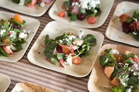 bamboo plates wedding from hello to hitched green