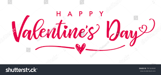 happy valentines day banner lettering happy valentines day banner valentines stock vector