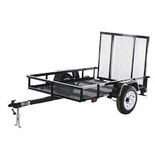 shop carry on trailer 4 ft x 6 ft wire mesh utility trailer with