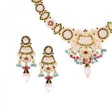 pearls necklace set jewellery images 22k gold basra pearl designer necklace set jpg