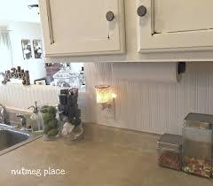 Beadboard Backsplash Kitchen Beadboard Backsplash Using Wallpaper 4 Real