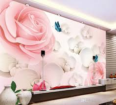 pink wallpaper for walls 3d hd large mural pink rose photo wallpaper scenery for walls