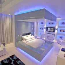 platform bed with led lights futuristic design bedroom with led lighting and platform bed