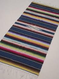 Serape Table Runner Mexican Serape Stripes Vintage Indian Blanket Runner Rug
